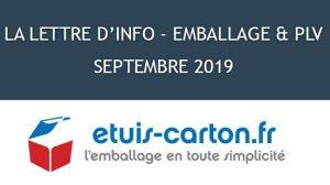 Lettre d'info – Emballage et PLV septembre 2019